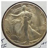 1940-S Walking Liberty Silver Half Dollar.