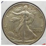 1942 Walking Liberty Silver Half Dollar.