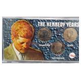 The Kennedy Years 3 Half Dollar Set.