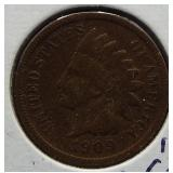 1909-S Indian Head Cent. Rare.