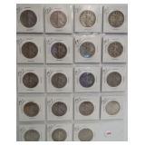 (19) 1917  Walking Liberty Silver Half Dollars.