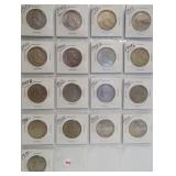 (17) Franklin Silver Half Dollars. Dates:
