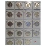 (19) 1964-D UNC Kennedy Silver Half Dollars.