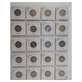(20) Barber Silver Quarters. Dates: 1893, 2-1894,