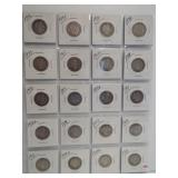 (20) Barber Silver Quarters. Dates: 1896, 1897,