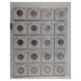 (20) 1955-D UNC Washington Silver Quarters.