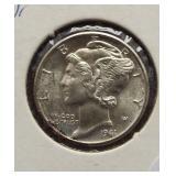 1941-D Mercury Silver Dime. Toned.
