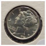 1943-D Mercury Silver Dime. FSB.
