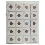 (20) V-Nickels. Dates: 1893, 1897, 1901, 1902,