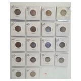 (18) V-Nickels. Dates: 1899, 1902, 2-1903,