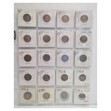 (20) Buffalo Nickels. Dates: 1913, 2-1923,