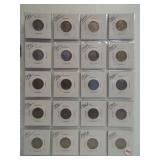 (20) Buffalo Nickels. Dates: 1934, 4-1935,