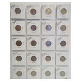 (20) Buffalo Nickels. Dates: 10-1936-D, 1936-S,