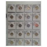 (20) BU UNC 40% Silver Jefferson War Nickels.