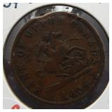 1854 Bank of Upper Canada one penny token.