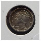 1916-S AU Mercury dime.