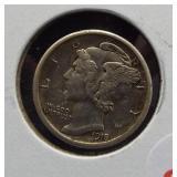 1918-S XF Mercury dime.