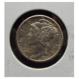 1924-S AU Mercury dime.