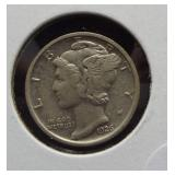 1926-D AU Mercury dime.