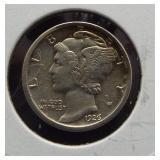 1926-S XF Mercury dime.