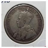 1918 Canada New Foundland half dollar.