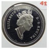 1996 Canadian 92.5% silver dollar.