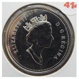 1995 Canadian 92.5% silver dollar.
