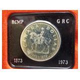 1973 Canadian 50% silver dollar.