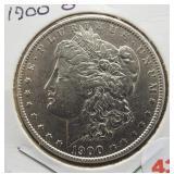 1900-O Morgan silver dollar.