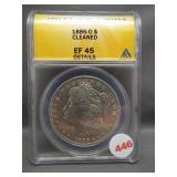 1886-O Morgan silver dollar. ANACS EF45 Details.