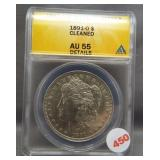1891-O Morgan silver dollar. ANACS AU55 Details.