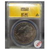 1896-O Morgan silver dollar. ANACS EF40 Details.