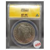 1896-O Morgan silver dollar. ANACS EF45 Details.