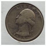 1932-S Washington silver quarter.