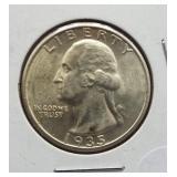 1935 Washington silver quarter.