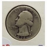 1936-S Washington silver quarter.