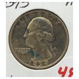 1939-S Washington silver quarter.