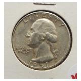 1951-S Washington silver quarter.