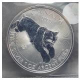 2017 Canadian $5 Predator one ounce 99.99% pure