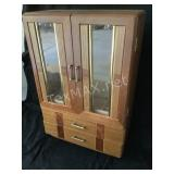 Vintage Wood Counter Jewelry Box