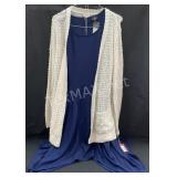 New Mossimo Navy Blue Dress and Beige Sweater