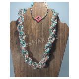 Beaded Necklace & Bracelet