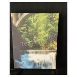 Canvas Water Fall & Lake Print