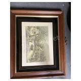Framed American Homestead Winter Print