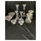 (5) Pair Crystal Candle Holders