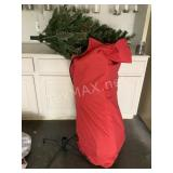 6Ft Lighted Christmas Tree with Stand and Bag