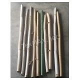 (10) Assorted Bamboo Poles