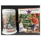 American Holidays Budweiser Stein