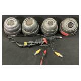 (4) IR Dome Security Cameras