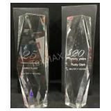 (2) Heavy Clear Prism Awards
